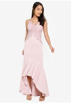 a856b1fa4acc 5% OFF INDIKAH Lace Peplim Mermaid Dress RM 399.00 NOW RM 378.90 Sizes 8 10  12