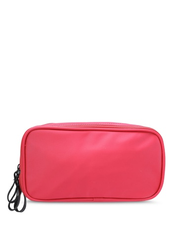 Bagstationz pink Dual-Zip Cosmetic Beauty Pouch BA607AC0RL0OMY_1