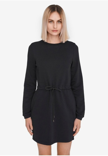 Noisy May black Alisa Sweat Dress 467EBAAB2F0BA3GS_1