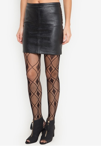 Chase Fashion black Diamond Pattern Stockings CH547US0JPIGPH_1