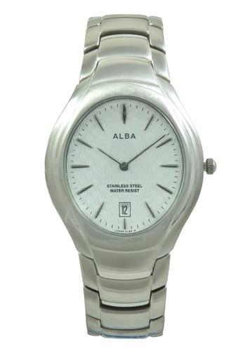 Alba silver ALBA Jam Tangan Pria - Silver White - Stainless Steel - AVKC43 AL383AC0V0ETID_1