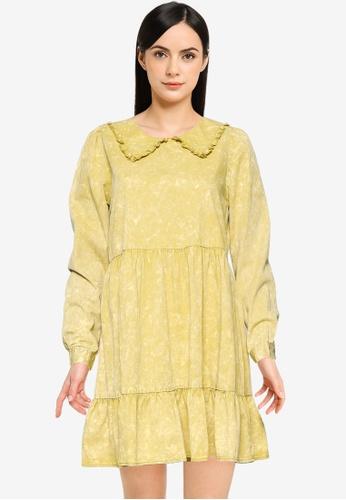 Noisy May yellow Sandra Short Dress E41ABAAF3322F8GS_1