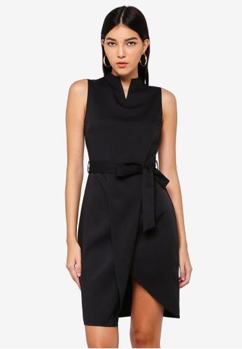 ZALORA black Notch Neck Dress E1E95AAF9929ADGS_1