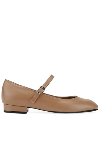 SPUR beige Square dorothy Flats A4F37SHB983AC6GS_1