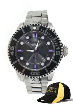 Pro Diver Men 47mm Case Watch 19801 with FREE Baseball Cap