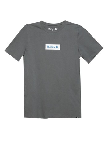 hurley grey Prm One & Only Small Box Boys T-Shirt B141EKA7990E0EGS_1