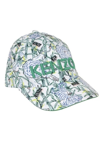 KENZO KIDS white and green and blue and multi KENZO KIDS CAP FD023KC34FC6CDGS_1