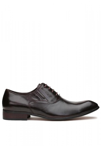 Kings Collection brown Palermo Derbies Shoes 9350DSHEFBBA02GS_1