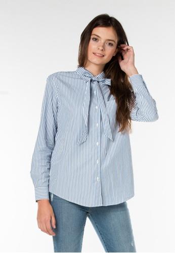 Levi's blue Sidney One Pocket Boyfriend Shirt LE843AA0FNX5SG_1