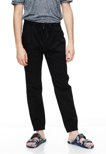 Life8 黑色 Casual Elastic Comfortable Jogger Pants -02495-Black 267FCAA6919751GS_1
