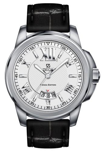 ZECA black and silver Zeca Watches Men Fashion Leather Analog - 261M Black Silver ZE260AC42SMNSG_1