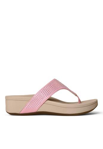 Vionic pink Naples Platform Sandal 95367SHA81A2C3GS_1