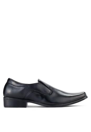 UniqTee black Classic Slip On Oxford Shoes UN097SH97NQCMY_1