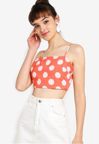 Something Borrowed 粉紅色 細肩帶短版上衣 35161AA5CF3FFFGS_1