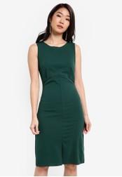 ZALORA green Essential V Back Paneled Dress 9AA67ZZB78C1F6GS_1