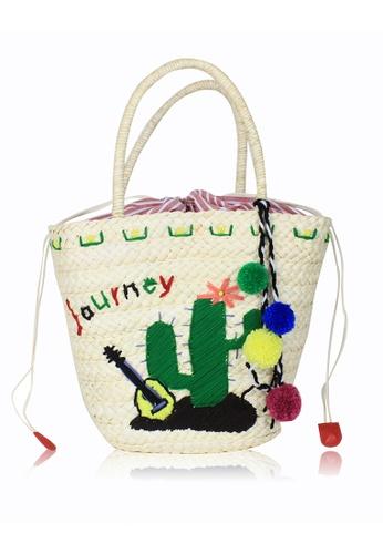 Dazz green Journey Straw Bag DA408AC0RU7NMY_1