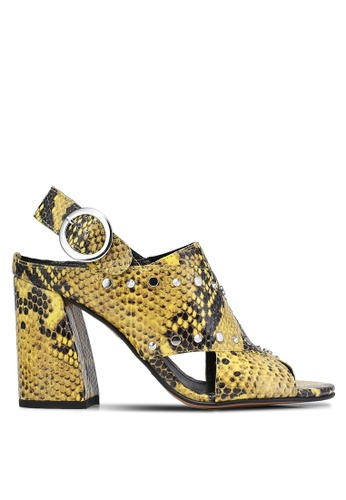 TOPSHOP yellow Nixie Studded Heels TO412SH0RJO0MY_1