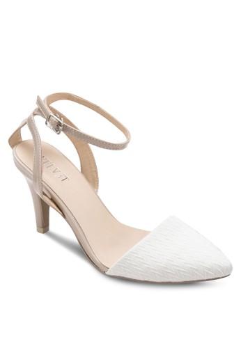 May 經典尖zalora 鞋評價頭繞踝高跟鞋, 女鞋, 中跟