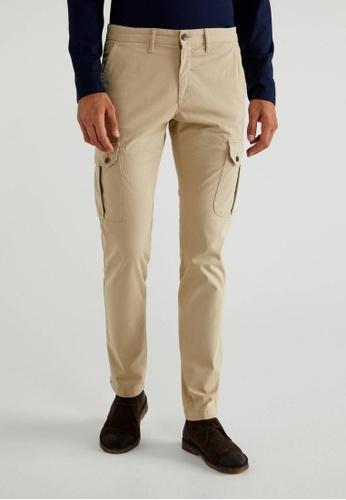 United Colors of Benetton beige Cargo Trousers D42A3AAEC7AD20GS_1