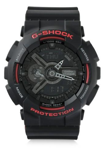 Casio black Casio G-SHOCK Jam Tangan Pria - Black Red - Resin - GA-110HR-1ADR CA347AC0WCHRID_1