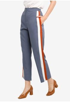 ced61f1a0a0887 ZALORA grey and multi Co-Ord Contrast Detail Long Pants 1E0DDAA75B2659GS_1