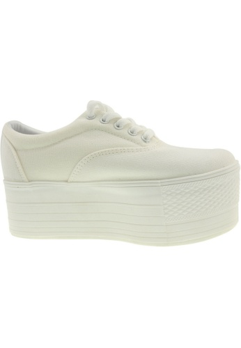 Maxstar white Maxstar Women's C60 5 Holes Platform Canvas Low Top Sneakers US Women Size MA164SH76PRJSG_1