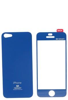 Mercury Case Color Mirror Film iPhone 5 [Blue]