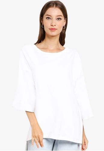 niko and ... white High Low Hem T-Shirt FF58FAA990277BGS_1