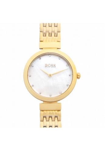 Hugo Boss [NEW] Hugo Boss Hugo Boss Ladies Gold Celebration Slim Watch 30mm HB1502479 80D09AC7DDA014GS_1