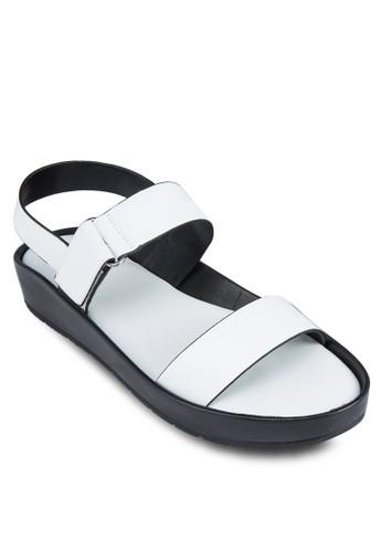經典寬帶esprit分店繞踝涼鞋, 女鞋, 鞋