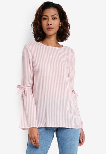 ESPRIT pink Woven Long Sleeve Blouse 68D0BAA4EF3B7DGS_1