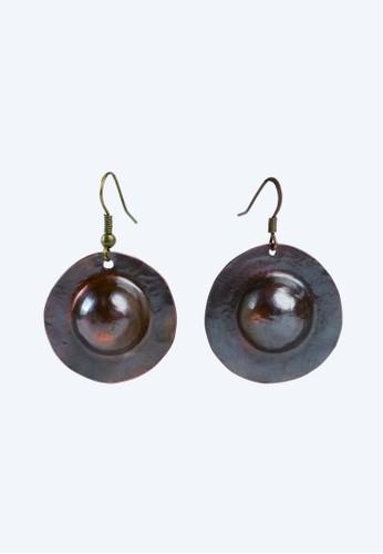 JOGLO AYU TENAN brown JOGLO AYU TENAN Big Gong Earrings C11A0AC71798CFGS_1