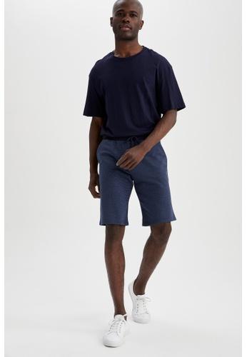 DeFacto navy Slim Fit Sweatshirt Bermuda Shorts DC5C5AA713496EGS_1