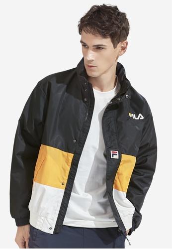 FILA black Korea Collection Unisex FILA Logo Color Blocks Jacket A0EE2AAE02391BGS_1
