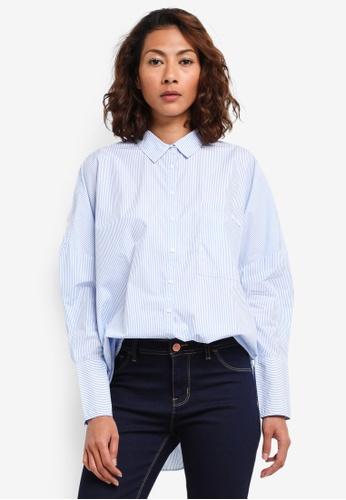 d3116f41443f35 Calvin Klein white Wiva Oversize Long Sleeve Shirt - Calvin Klein Jeans  569F1AAB9157B3GS 1