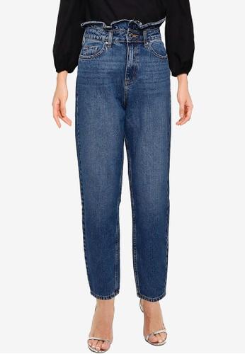 Miss Selfridge blue Frill Top Mom Jeans 5B0B2AA2D6FC06GS_1