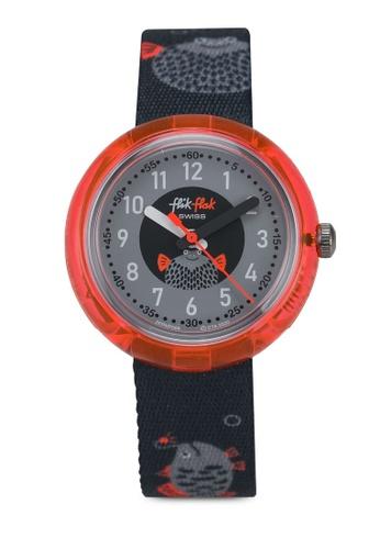 Flik Flak grey Pufferfish Watch 3FEC4KC92F2022GS_1