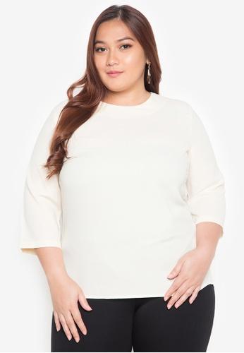 Maldita X beige Plus Size Loella Plus Size Blouse MA587AA0JCIKPH_1