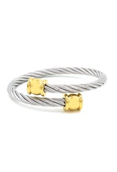 Austin Twisted Cable Wire End Cuff Bracelet