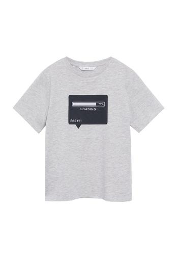 MANGO KIDS grey Organic Cotton Printed T-Shirt 82124KAFFF3DF6GS_1