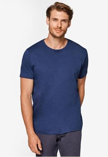 ESPRIT 海軍藍色 Short Sleeve T-Shirt E7B1FAAD3CE163GS_1