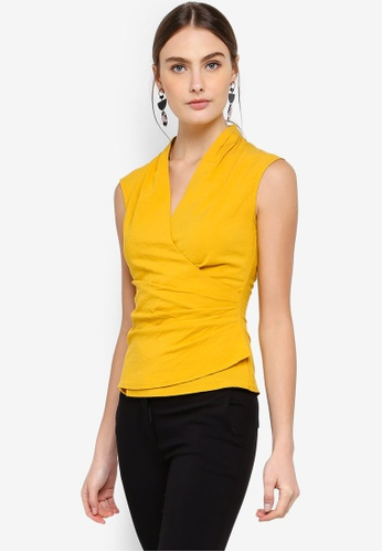 FORCAST yellow Alondra Crossover Top 426E4AA2D56FCEGS_1