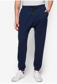 Paneled Dropped Crotch Sweatpants