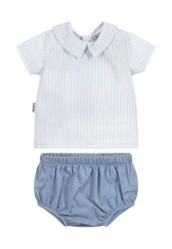 RAISING LITTLE white and blue Rene Outfit Set A59C5KA0780DCAGS_1