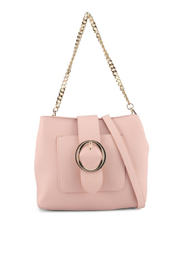 Perllini&Mel pink Faux Leather Shoulder Bag CFB85ACDC84557GS_1