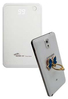 MSM.HK Powerbank 7200mAh PowerBank With FREE BOW 360° Mobile Rotating Grip Ring