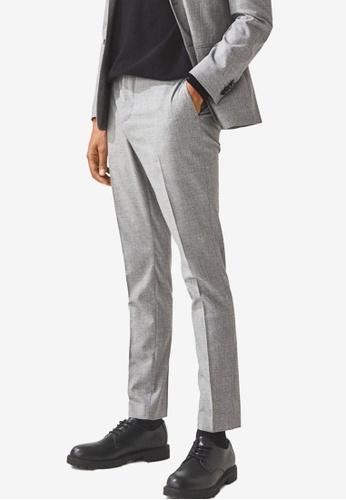 H&M grey Skinny Fit Suit Trousers D0BA3AA86C1A97GS_1