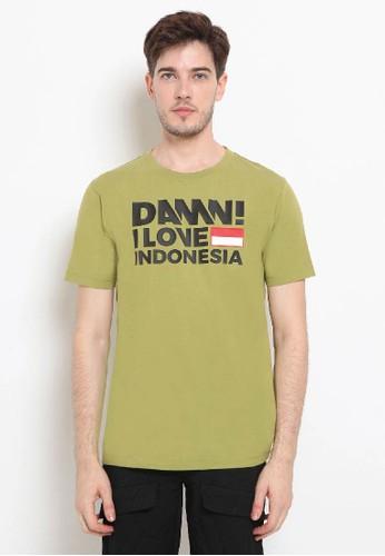 Damn I Love Indonesia green Tee Sign Green HD Black Male EA48FAAB99683AGS_1
