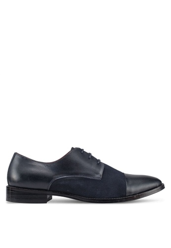 Acuto blue Leather Derby Shoes 9DDBESH863001EGS_1