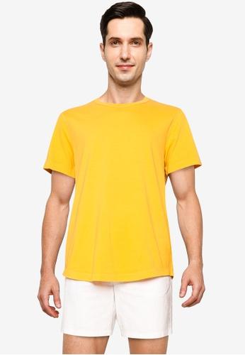 GAP gold Short Sleeve Curved Hem Tee BEA20AAE8A637FGS_1